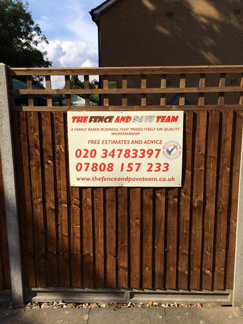 Fencing and paving in South West London and Surrey. Free quote.